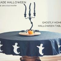 DIY Ghostly Halloween Tablecloth